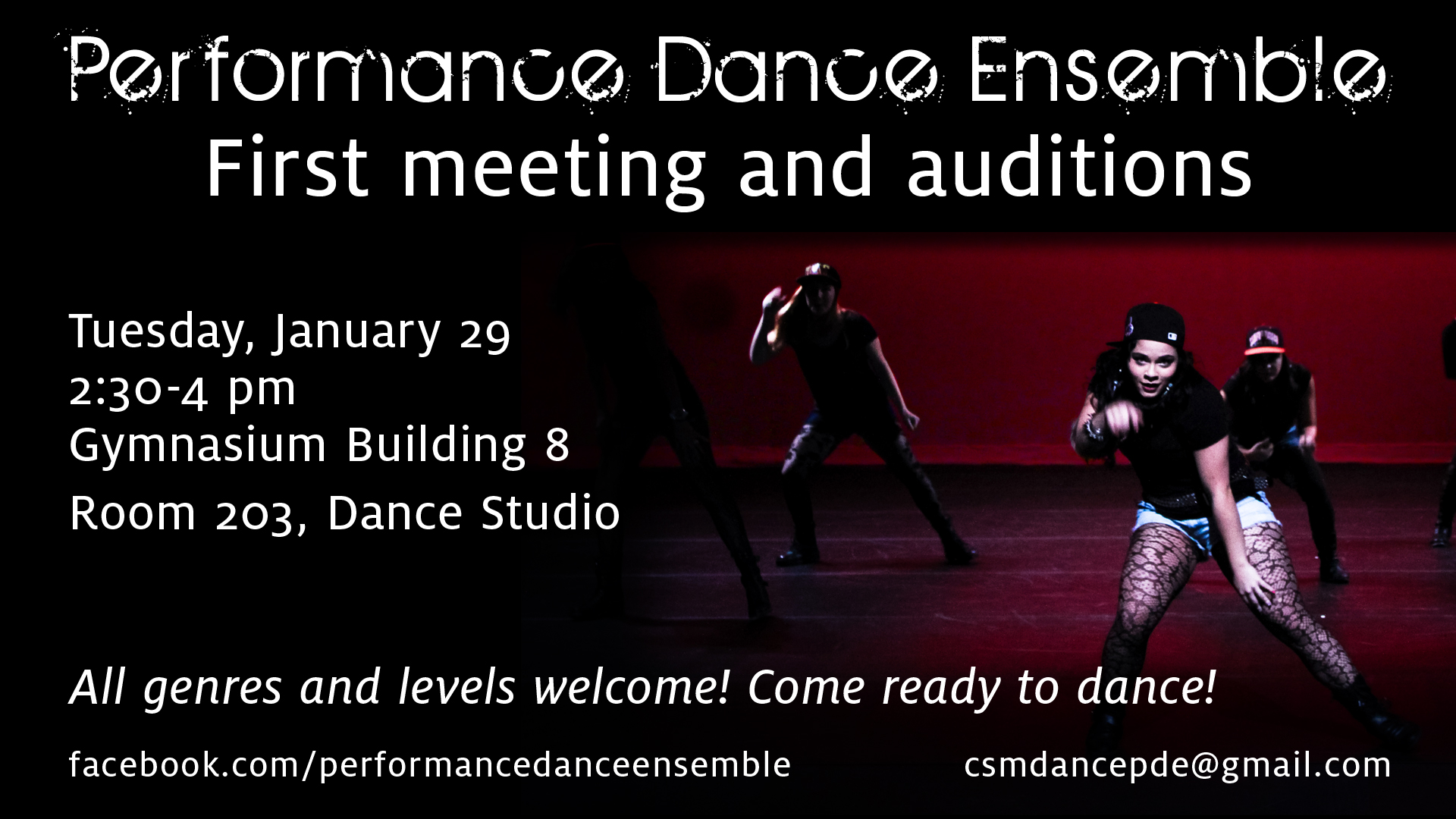 Performance Dance Ensemble Auditions